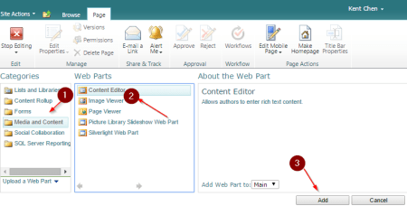 Sharepoint add webpart - Sharepoint - add webpart