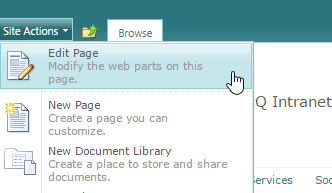 Sharepoint edit page - Sharepoint - edit page
