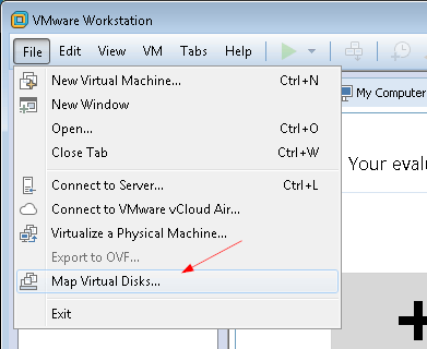 vmware-workstation-map-virtual-disk