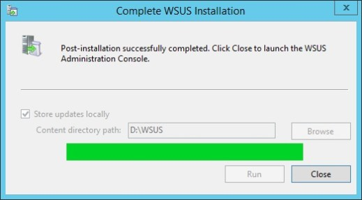 Fix WSUS Postinstallation Error www.doitfixit.com 3 - Fixing Failed to Start and Configure the WSUS Service in Windows Server 2012 R2