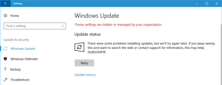 Windows update 8024401f Windows 10 1 - Windows update 8024401f - Windows 10