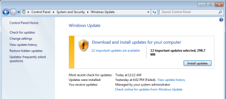 Windows update back to work again. 1 - Windows update - back to work again.