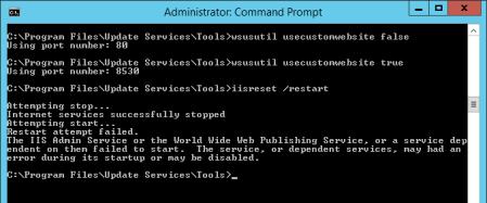 reset Wsus port - reset Wsus port