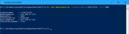 PowerShell scan open port - PowerShell - scan open port