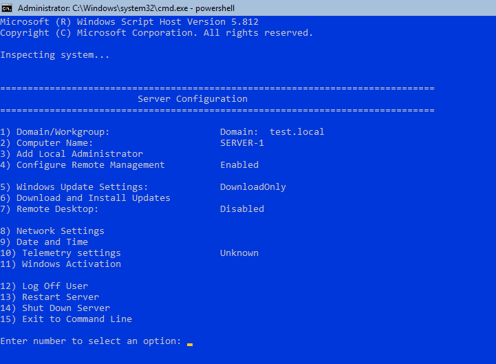 Setting Up Active Directory, DNS, and DHCP on Server Core using