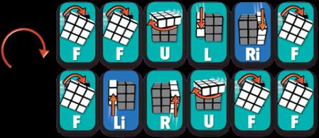 Rubiks Cube Step 5 2 clockwise - Rubiks Cube - Step 5 - 2 clockwise