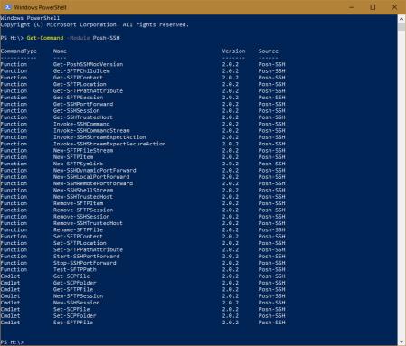 Windows PowerShell Posh SSH Cmdlets - Windows PowerShell - Posh-SSH Cmdlets
