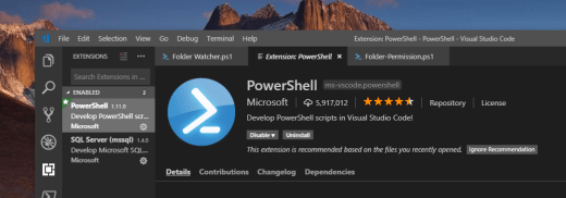 image 5 - Setting Up Visual Studio Code for PowerShell
