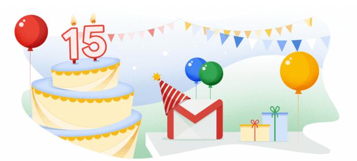 image - Happy 15th Birthday, Gmail