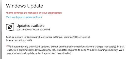 image 7 - Fix Windows 10 20H2 Upgrade Error 0xc1900223 via WSUS
