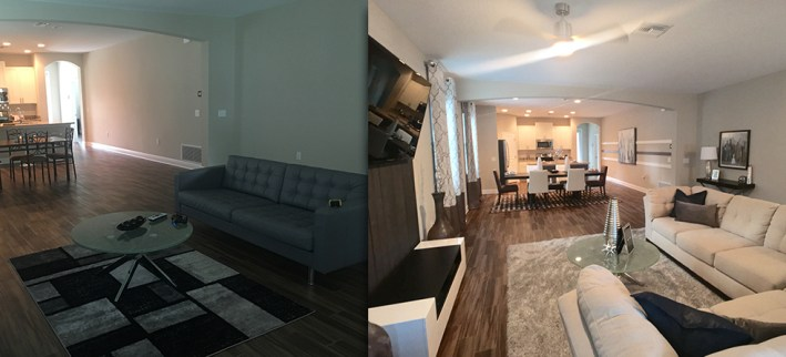 Before & After Open Living Area