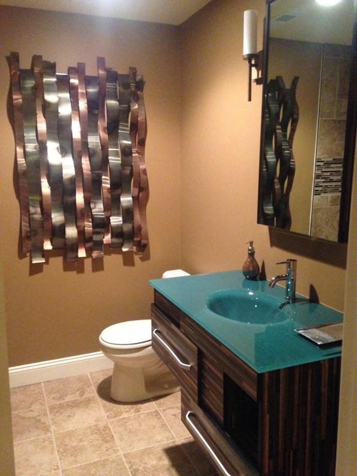 Bold Color Bathroom Makeover