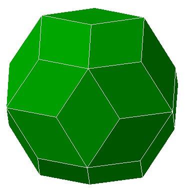 Rhombic Triacontahedron Net