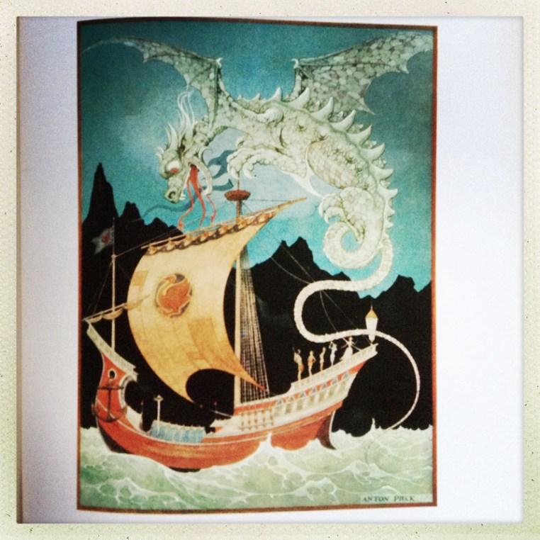 Anton Pieck - dragon
