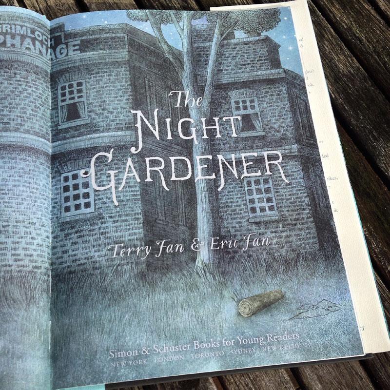 The Night Gardener - The Fan Brothers - pagina de titlu