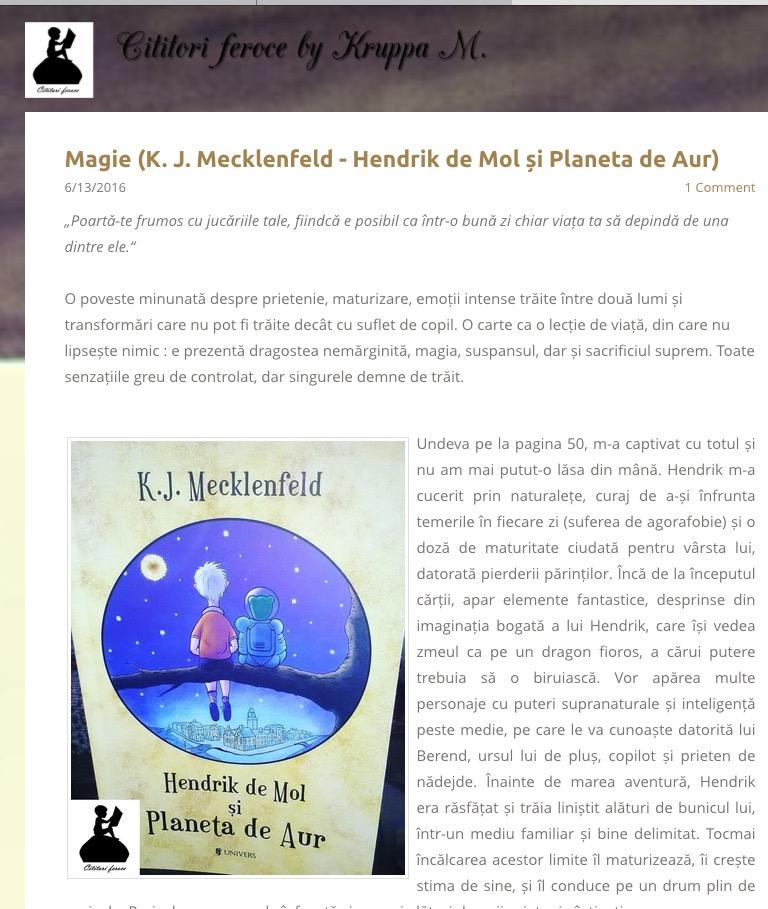 recenzie Hendrik de Mol - Cititori feroce