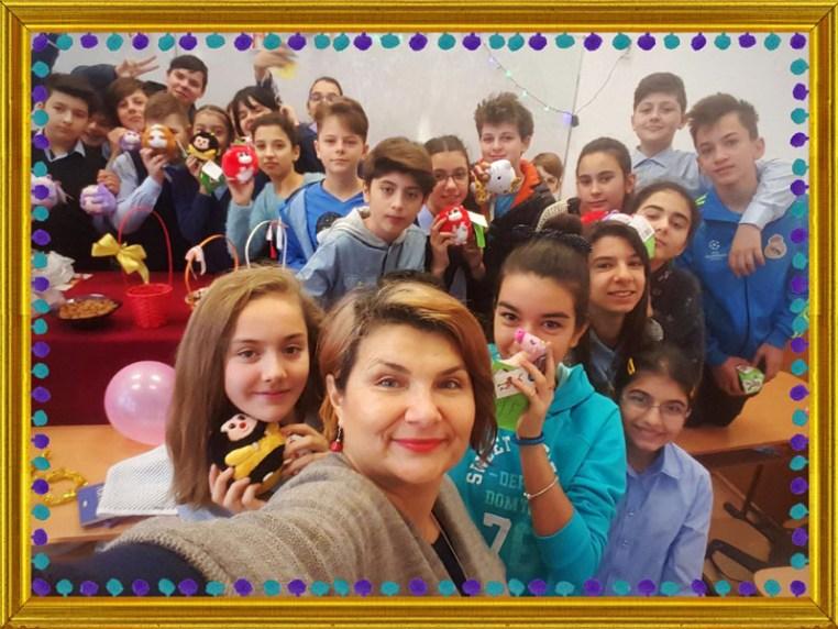 Clasa a VI-a C și doamna Geanina Oprea