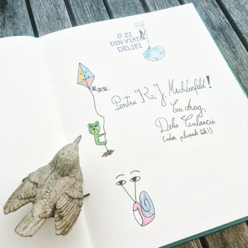 O zi din viața Deliei - carte cu autograf