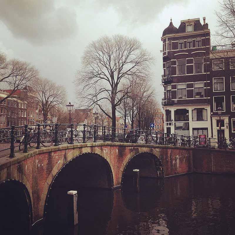 Amsterdam în iarnă
