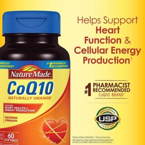 Nature Made輔酶Q10液態膠囊、400毫克、60粒- KJout.com美國購物