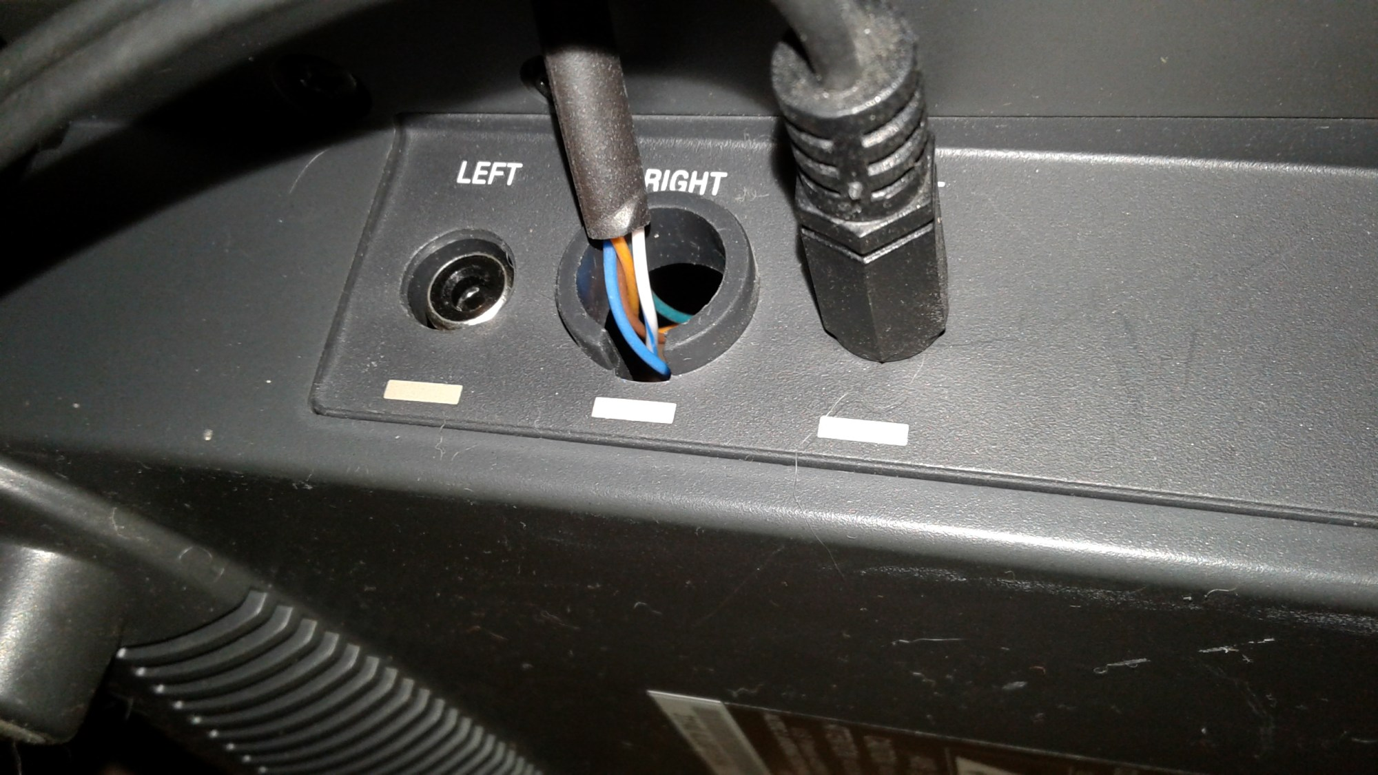 hight resolution of removing the din connector from the circuit board in the subwoofer created a convenient place to