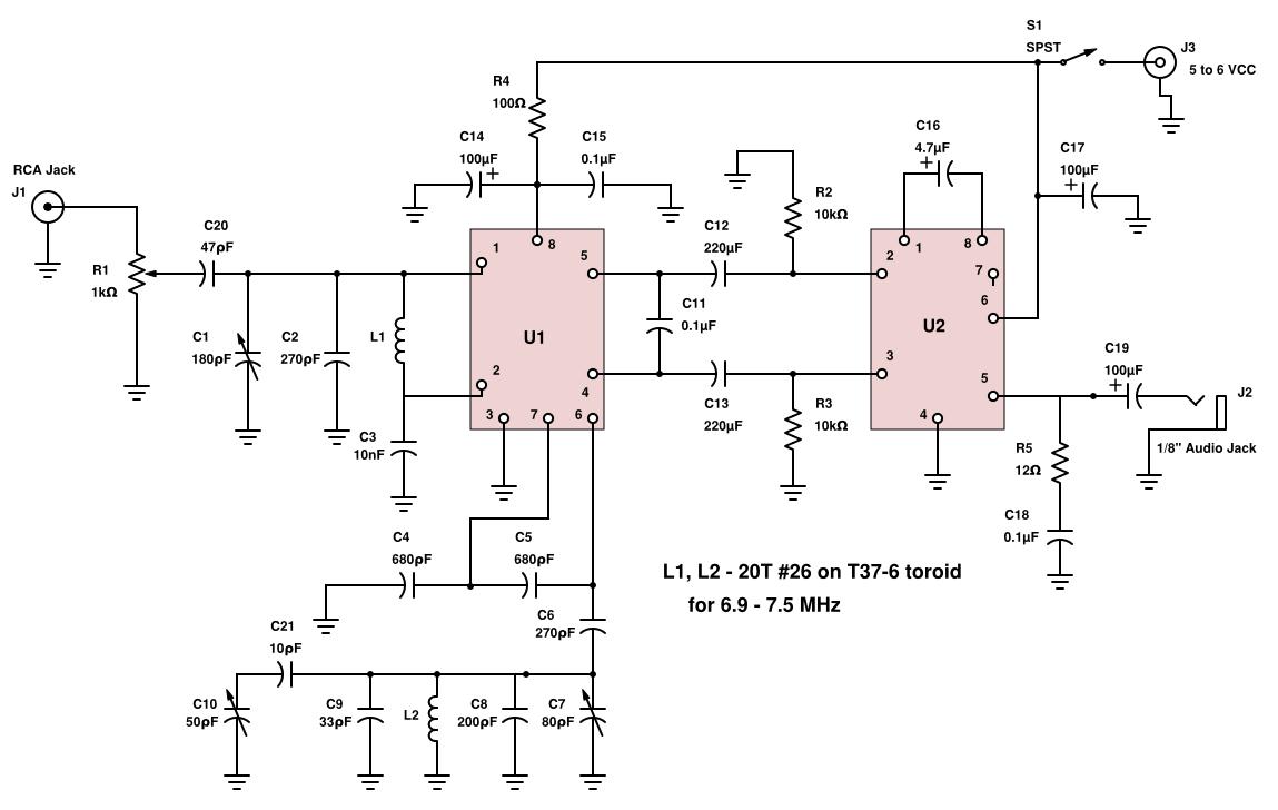 Simple Am Transmitter Circuit