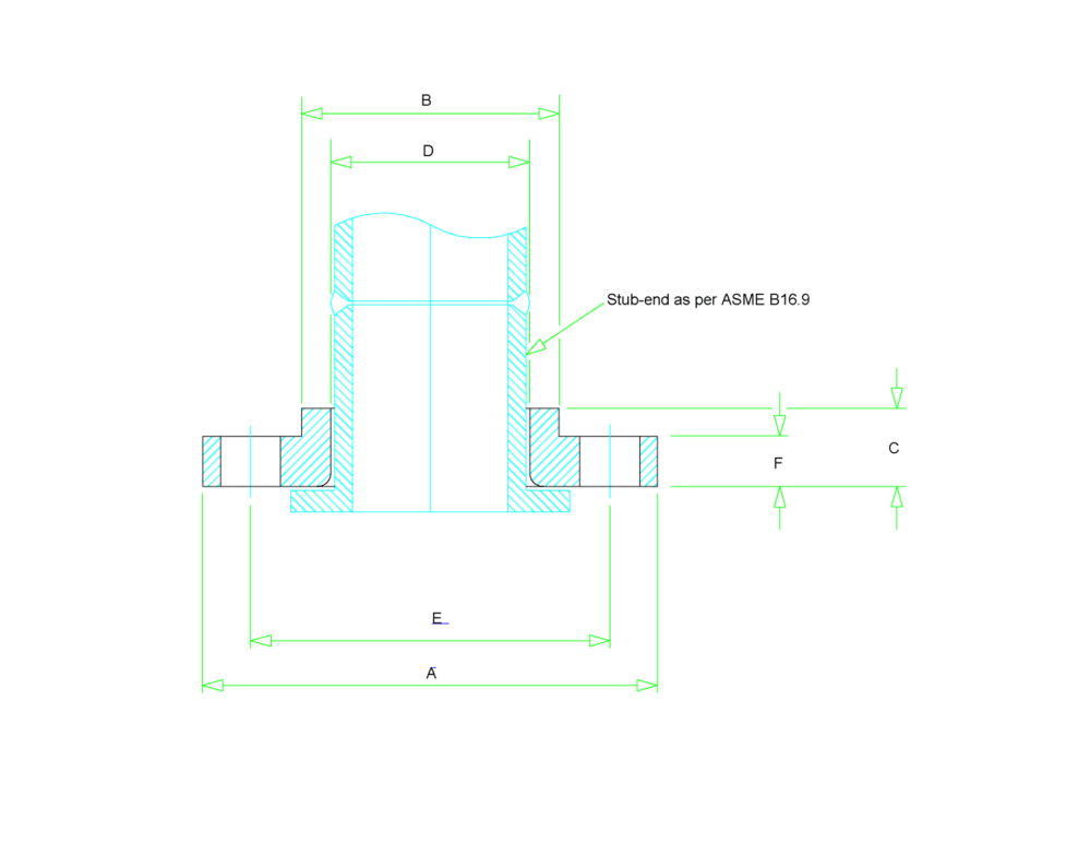 medium resolution of dimension lap joint flange