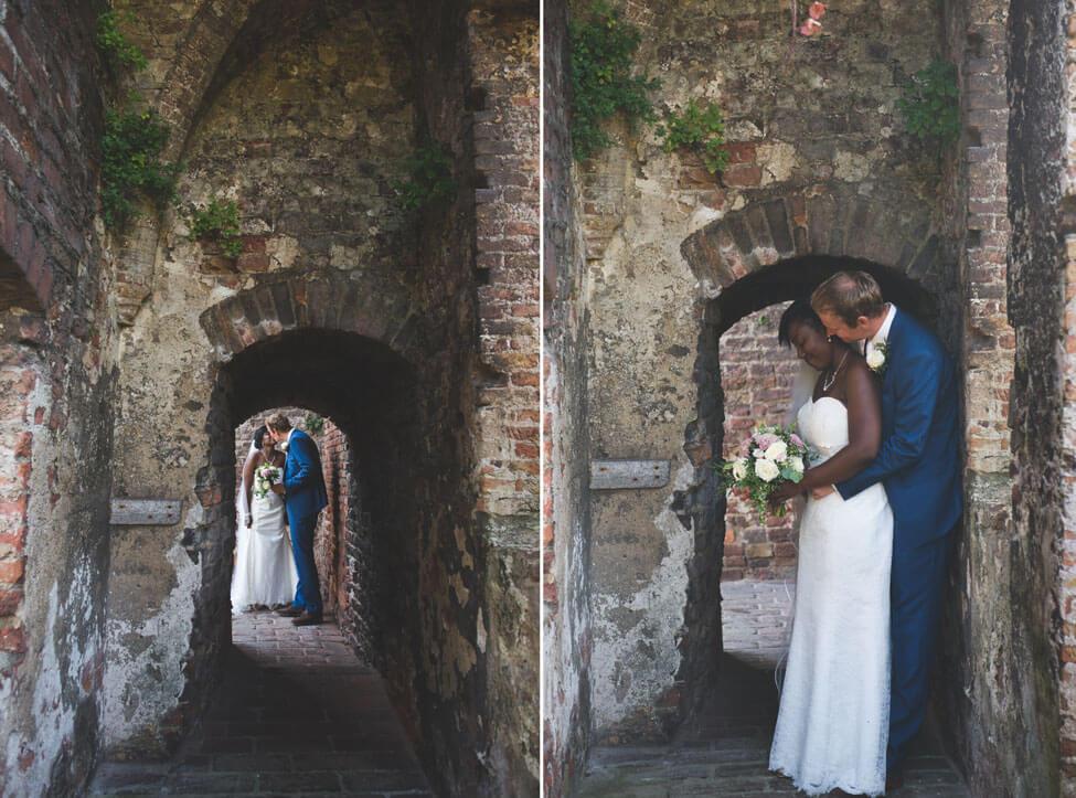 trouwfoto in kasteel Ravesteyn