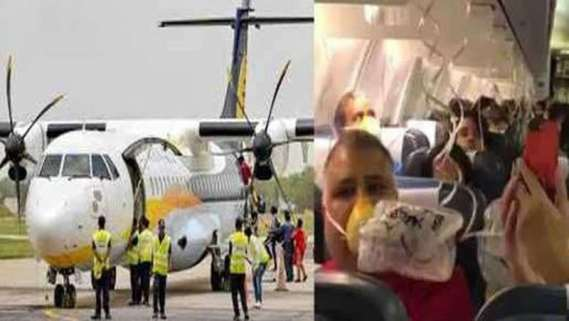 Inside visuals of Jet Airways Mumbai-Jaipur flight that was turned back to Mumbai airport midway today after a loss in cabin pressure