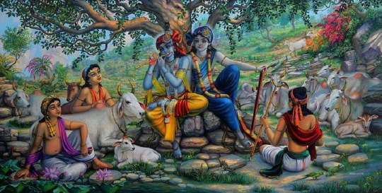 krsna and cow herd boys