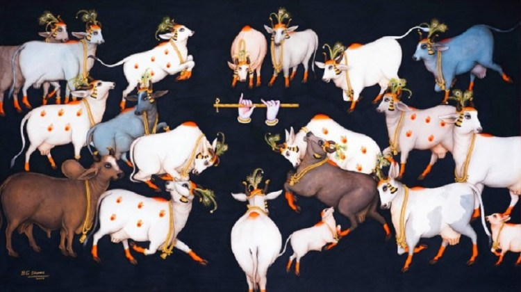 Krsna and cows