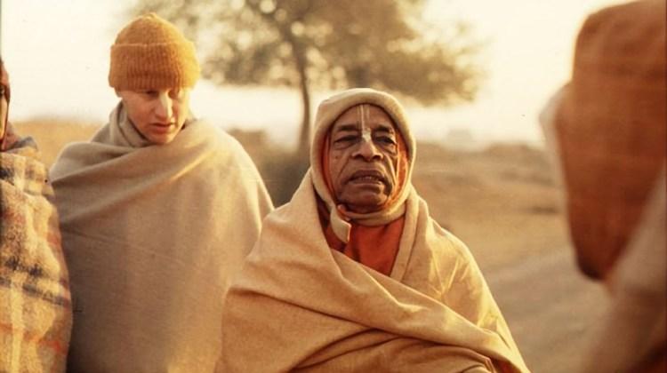 Srila-Prabhupada-on-morning-walk-in-Vrindavan