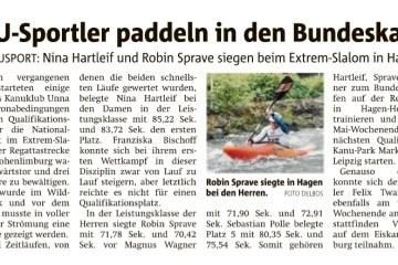Hellweger Anzeiger berichtet über KKU-Sportler beim Extrem-Slalom.