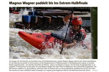 Extrem-Slalom-Halbfinale: Hellweger Anzeiger berichtet über KKU-Kanuten