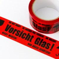 36 x 66m Klebeband Hinweis VORSICHT Glas Band Rollen ...