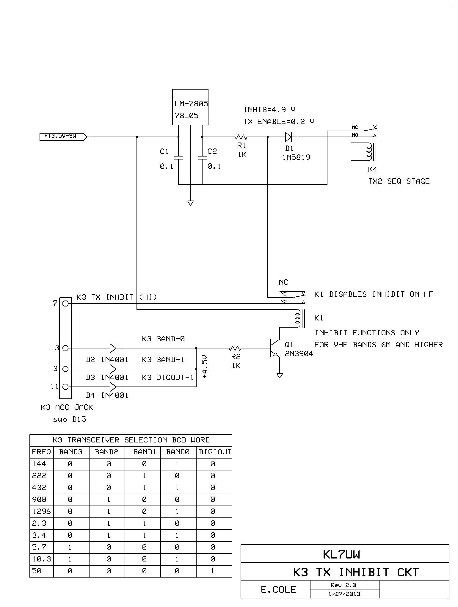 hight resolution of kl7uw tx inhibit page k3022 circuit diagram circuit diagram k3