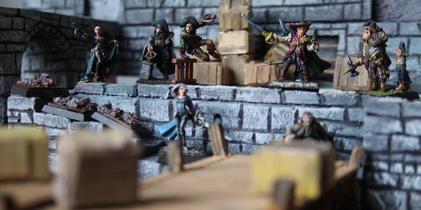 Freebooters Fate, bemalt, Miniatur, Tabletop, Gruppenbild, Söldner