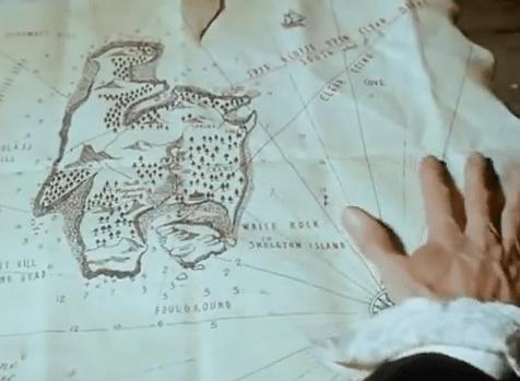 Die Schatzinsel, Film, DVD, Die Schatzinsel, ZDF - 4-Teiler, 1966, die Schatzkarte, Schatzkarte, Karte zur Insel