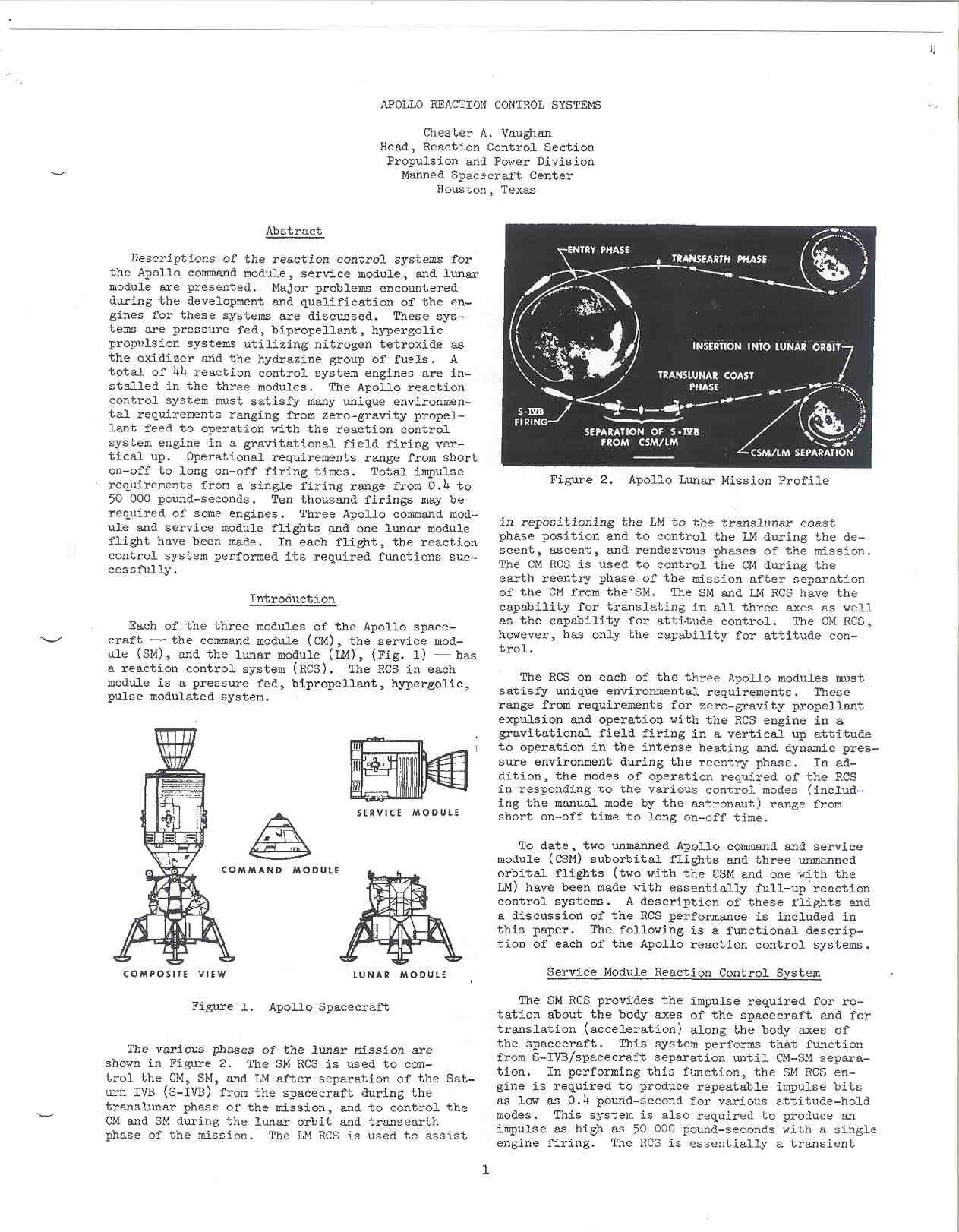 Apollo Reaction Control Systems Vaughan