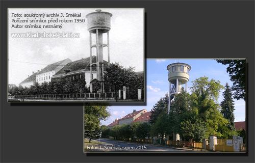 Vodárenská věž a rozhledna Kladruby nad Labem - historie