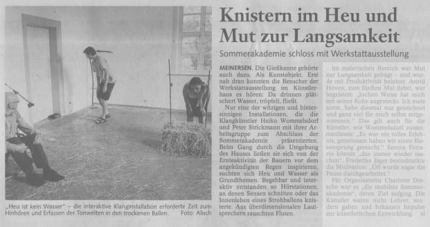 Gifhorner Rundschau 30.07.2012