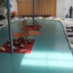 yoga matten instrumenten zaal