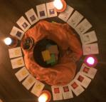 klankschaal kaarsen Mayakaarten