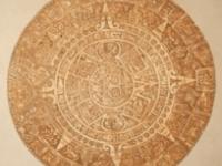 Maya kalender gips afdruk