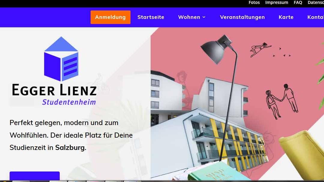 Egger-Lienz-Studentenheim mit neuer Website online