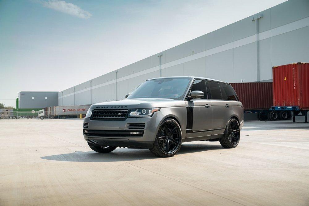 Range Rover HSE KlasseniD Wheels M53R Matte Black Face Gloss Black Windows 1