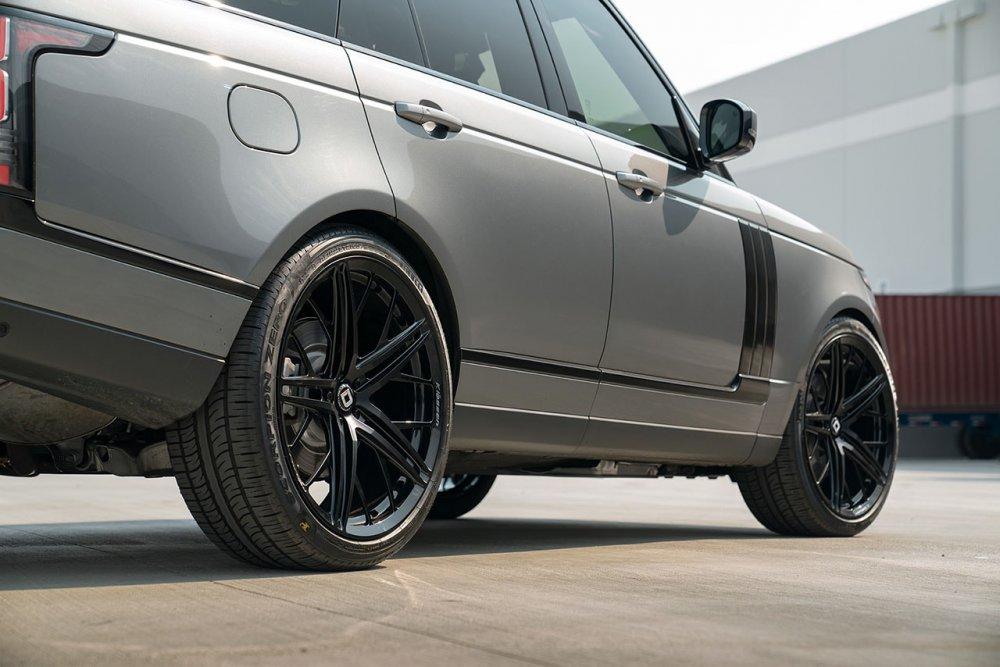 Range Rover HSE KlasseniD Wheels M53R Matte Black Face Gloss Black Windows 7