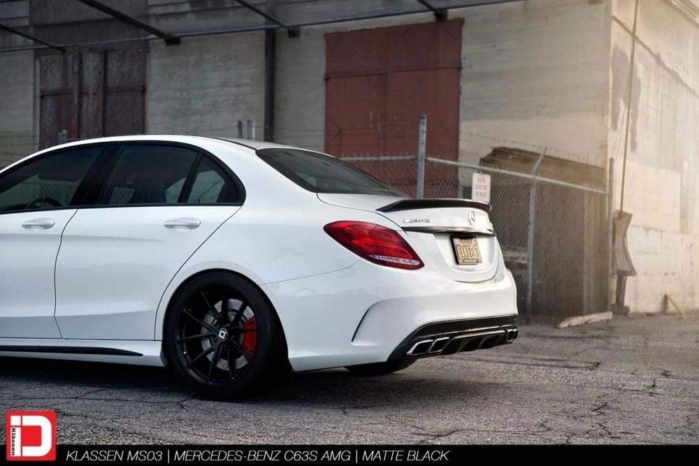 Mercedes-Benz C63S AMG – KlasseniD Wheels MS03 Matte Black