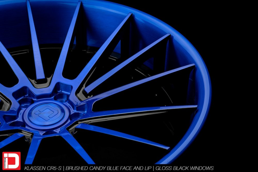 KlasseniD Wheels – CR5-s Brushed Electron Blue with Gloss Black Windows
