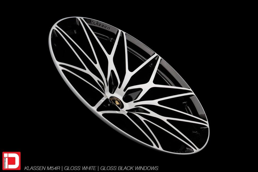 KlasseniD Wheels   M54R Gloss White & Black Two Tone